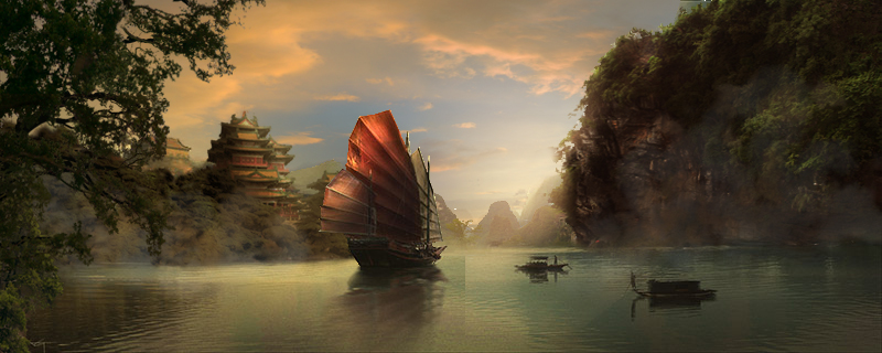 Ship Matte Painting